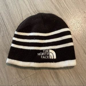 The north face brown/white winter beanie h…